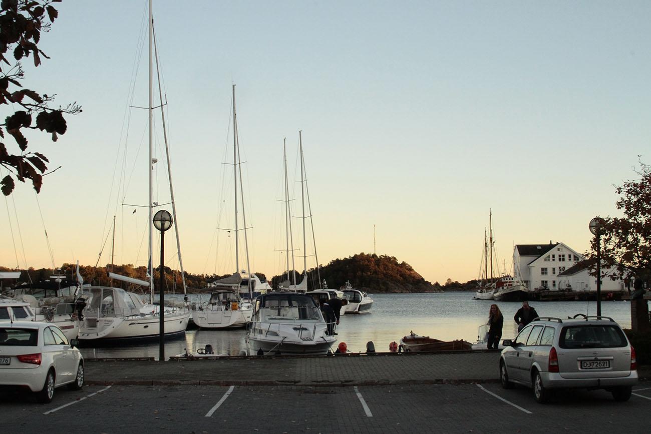 Bensinfylling i Grimstad